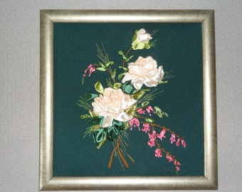 Ribbons  Embroidery  - Roses