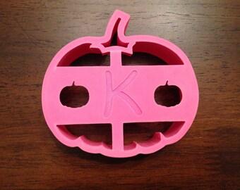 Pumpkin sandwich cutter with initial