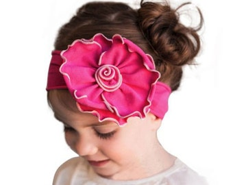 Girls, heqdband, Girls Hot Pink Elastic Bowknot Headband
