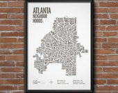 Atlanta Neighborhoods Screen Print—ONLY 5 LEFT! Limited edition of 100 hand-printed locally in ATL