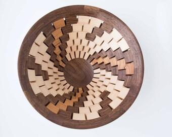 Spiral open segmented bowl