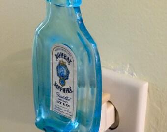 Melted Bombay Sapphire Gin Nightlight