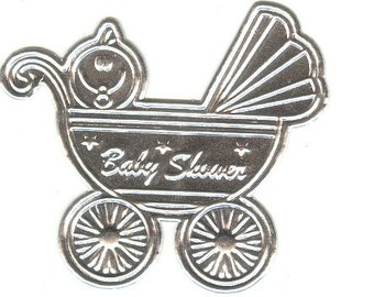 Foil Emboss Dies Embellishments - Baby Shower Boy or Girl -Carriage