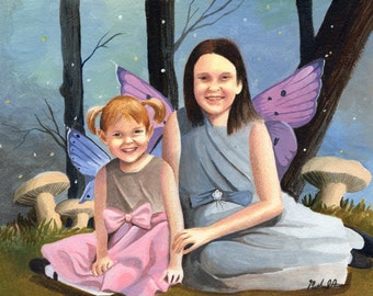 Commissioned Portraits from Photographs. One of a Kind Customized Fantasy Art Paintings.