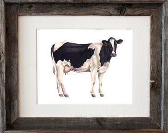 Dairy Cow Watercolor Fine Art Print