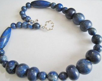 Lapis Stone Bead Necklace