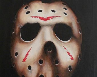 "Acrylic paint ""Friday the 13th"""