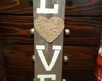 Rope and painted love sign