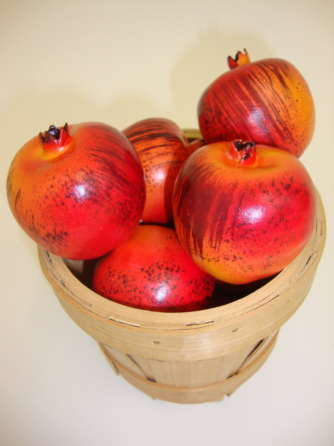 Artificial fruit faux mini pomegranate fruit kitchen for Artificial pomegranate decoration