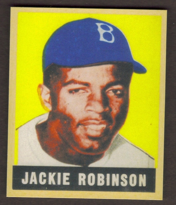 Items Similar To JACKIE ROBINSON Rookie RP #79 Dodgers