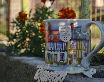 "Dunoon Stoneware Coffee / Tea Mug ""Cottages"" by Emma Ball"