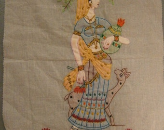 Single Embroidered Vintage Chinese Fabric Textile