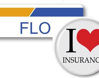 1 FLO From Progressive Insurance Halloween Costume Name Badge Tag pin Fastener & Button Ships ASAP FREE