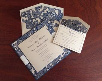 Paisley Elegant Square Wedding Invitation
