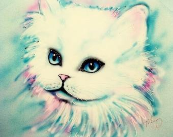 Cat shirt, Personalized Cat gift, cat t shirt, personalized tshirts, kitty shirt, white cat pillowcase, personalized pillowcases
