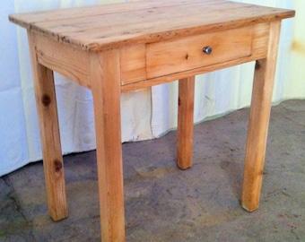 Table desk 1 drawer of rural origin
