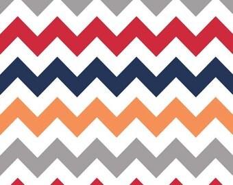 Boy Chevron Medium for Riley Blake Designs F320-02 - 100% Cotton Flannel Fabric - by the yard fat quarter half