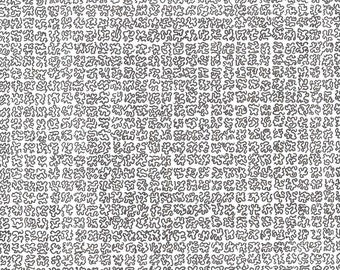 Pen Drawing, Abstract Squiggle Grid Pattern
