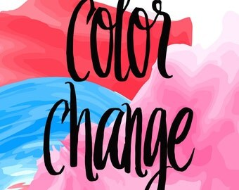 Ink Color Change