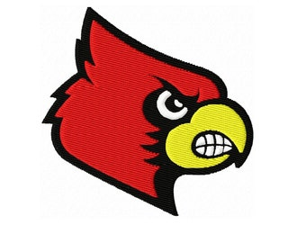 Cardinal Solid Fill Embroidery Design 2x2 3x3 4x4 5x5 INSTANT DOWNLOAD