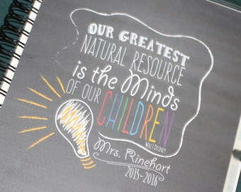 "Inspiring Grace Teacher Planner ""Our Greatest Natural Resource"" (2017-2018)"