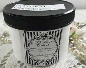 Natural Unscented Luscious Goats Milk Honey Shea Butter Cream Lotion