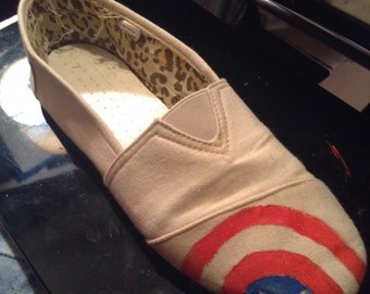 Avengers Hand Painted Shoes