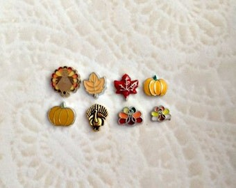 Fall floating charms for memory lockets