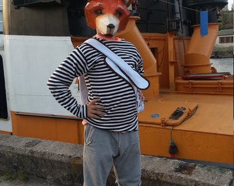 DIY Halloween mask, fox mask, fox costume, Instant Download, DIY fox mask, Printable Mask