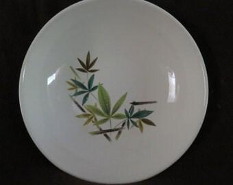 "Vintage 9"" Serving BOWL Salem China WOODHUE  Mid Century Retro Dish Schrechengost"