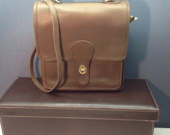 Vintage Coach Station Bag - 5130 - Brown Shoulder Bag