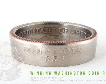 COIN RING - Minnesota State - Handmade in the USA - All Sizes Available