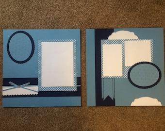 2 page 12x12 scrapbook layout