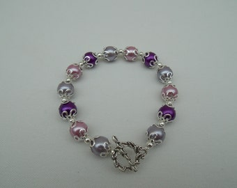 Purple and Lilac Pearl Bracelet