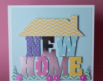Handmade New home House card