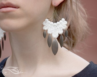 Dream catcher - earrings with tip