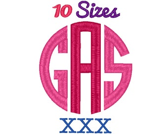 Greek Circle Monogram Embroidery Font Machine Embroidery Fonts