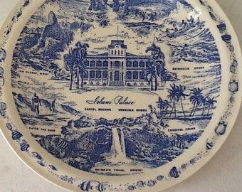 Iolani Palace Souvenir Plate by Vernon Kilns