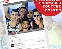 Customized Youtube Frame/ Photo Booth - High Quality - KVEventsStationary