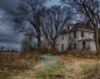 Fine art photography, Urban Decay, Abandoned House, Wall Decor, Home Decor, Abandoned, Fine art print, Farm House, Moody, Rural Decay
