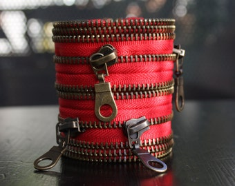 red zipper bracelet