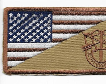 Green Beret US Army Afghanistan & Iraq Special Forces Crest Desert Subdued Patch