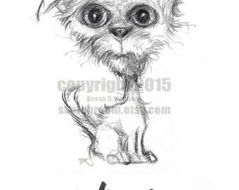"""New """"What the Heck"""" Darling Dog Printable """"Color Me"""" Greeting Card - SketchRoom cards"""