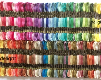"Anchor Embroidery Thread/Floss / Skeins in 100 Different Beautiful Colors ""SET- 2"""
