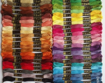 50 Anchor Embroidery Cotton Thread  Skeins / Floss SET-1
