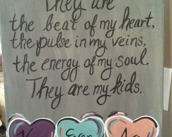 """16x20 Canvas Painting """"They Are My Kids"""""""