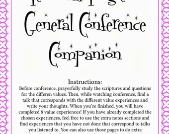 YW Personal Progress General Conference Packet #1