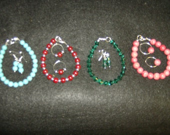 Beaded Bracelet and Earring Sets