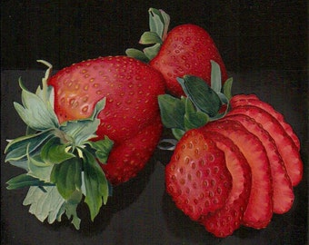 Still life Strawberries Giclee Print