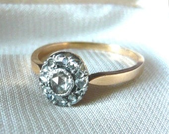 VICTORIAN Rose Diamond Engagement Ring | Rose Diamond Ring | Vintage Diamond Ring | Antique Diamond Ring | Victorian Ring